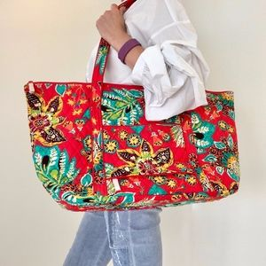 VERA BRADLEY ICONIC LARGE MILLER BAG RUMBA COLOR